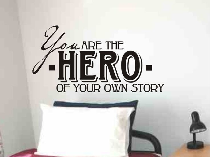Childs Bedroom Wall Quote Decal You Are The Hero by vgwalldecals