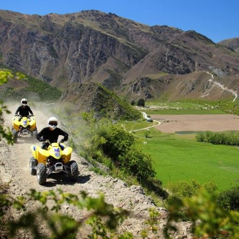 Looking for great land adventures in Queenstown? The Off-road Adventures Quad Bike tours are a lot of fun rain or shine! #UltimateQueenstown