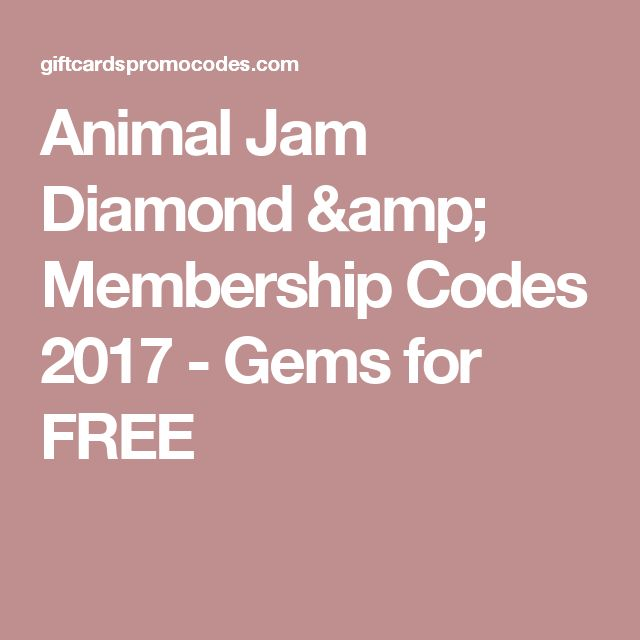 Animal Jam Diamond & Membership Codes 2017 - Gems for FREE