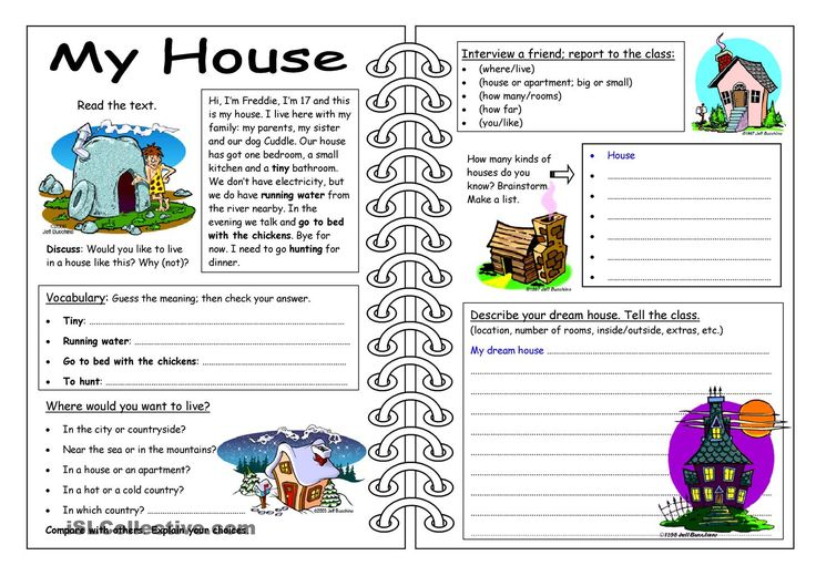 Four Skills Worksheet - My House
