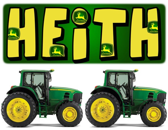 John Deere Wall Stickers Set Of 5 Personalized By BabysOwn On Etsy.