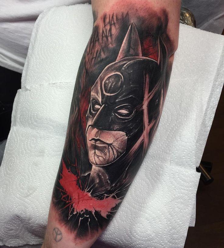 The Dark Knight 🌑 thanks Owen !! #silverbackink #hustlebutterdeluxe #fkirons