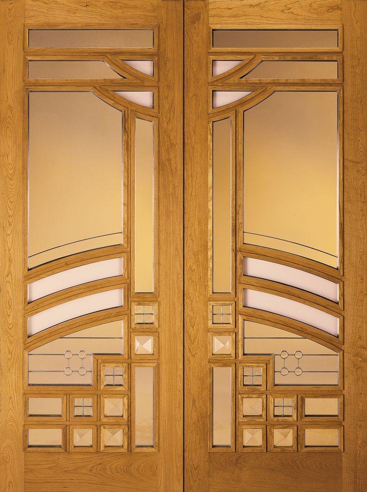 custom wood glass panel exterior door jeld wen doors. Black Bedroom Furniture Sets. Home Design Ideas