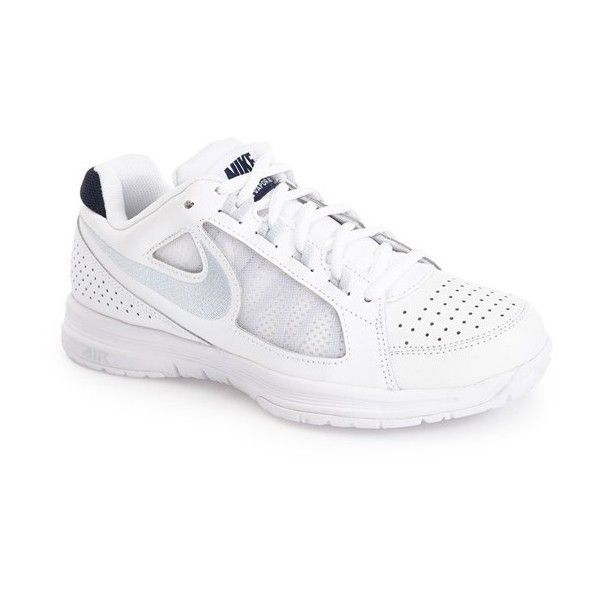 Nike 'Air Vapor Ace' Tennis Shoe ($75) ❤ liked on Polyvore featuring shoes, athletic shoes, lightweight shoes, nike athletic shoes, lightweight tennis shoes, light weight tennis shoes and real leather shoes