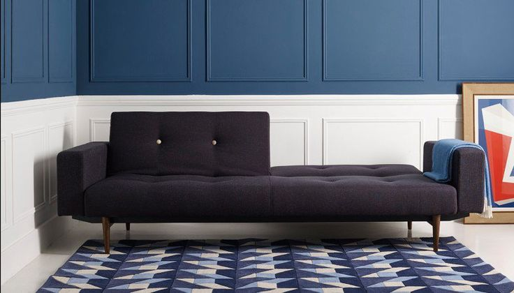 Heal's Knap Sofabed With Upholstered Arms