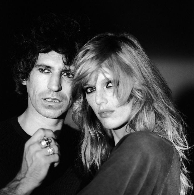 Keith Richards and Patti Hansen.
