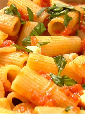 Tomato Basil Rigatoni  in love with tomato basil anything right now