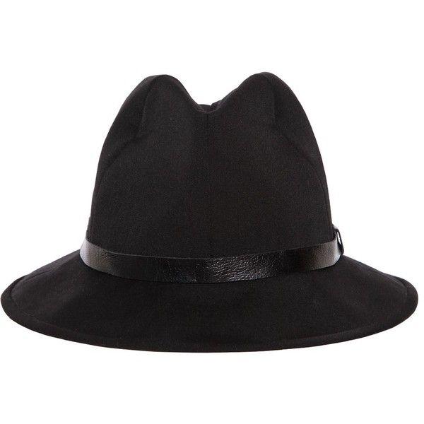 Yohji Yamamoto Men Wool Fedora Hat ($750) ❤ liked on Polyvore featuring men's fashion, men's accessories, men's hats, black, mens wool hats, mens wool fedora, mens hats, mens fedora and mens wool fedora hats