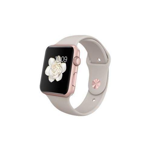 Apple Watch Sport 42mm Rose Gold Alumnum Case With Stone Sport Band - 42 Mm - Aluminium Rose Or - Montre Intelligente Avec Pierre - Bande Sport - P/M/G Tailles - Wi-Fi, Bluetooth - 30 G