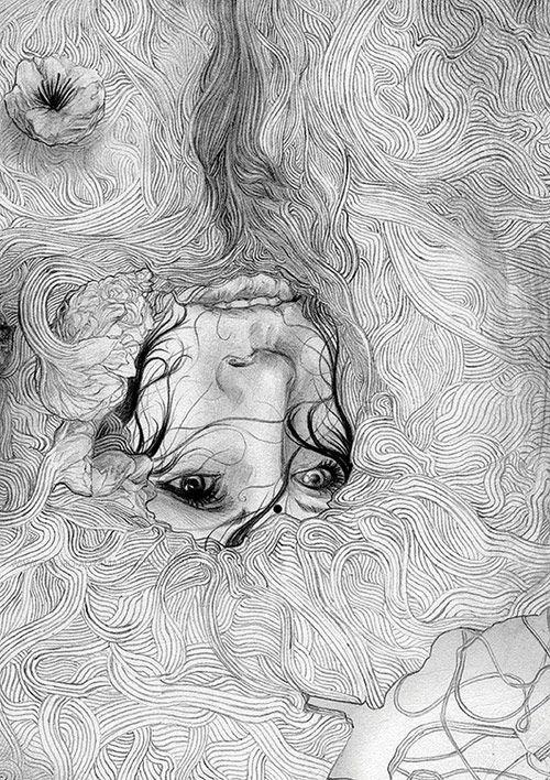 Zakuro Aoyama drawings via @juxtapozmag