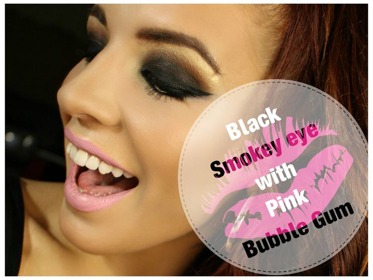 Smokey Eyes With Pink Bubble Gum