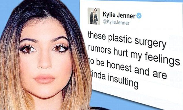 Kylie Jenner has had enough. The 16-year-old took to the forum she usually reserves for selfies and fun updates and slammed claims that she has had plastic surgery on Wednesday night..