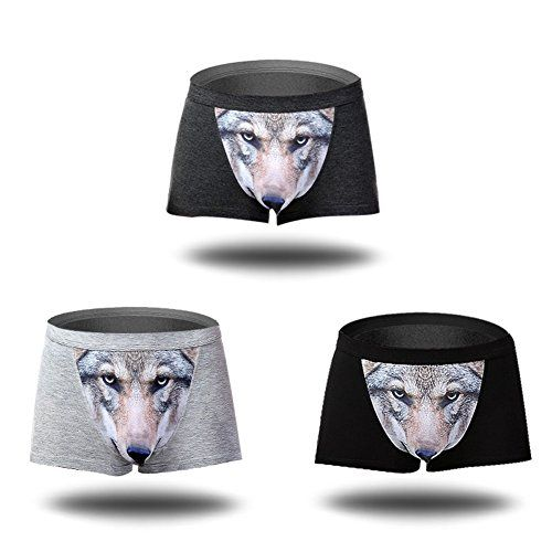 In today's episode of 'Yes, apparently this is a thing', we have these wolf underwear, which essentially turns your bulge into the snout of the wolf as it protrudes outward, giving the wolf a 3D look ...