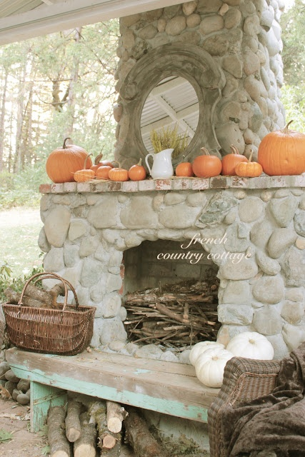 French country cottage outdoor fireplace favorite places for French country fireplace