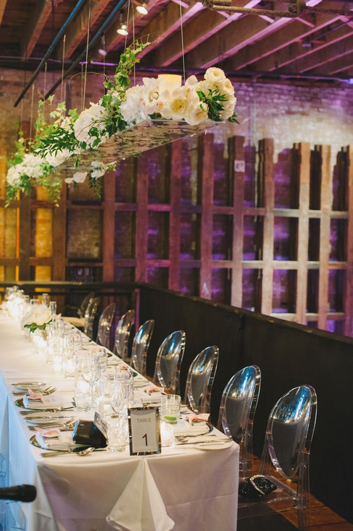 black white purple wedding reception%0A modern  yet romantic reception room   Ultra Chic Black   White Wedding in  Toronto