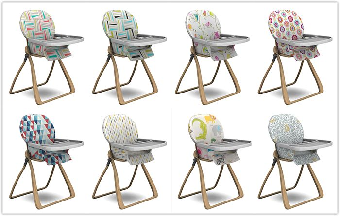 Sims 4Toddler High Chair • New Mesh by leo-sims • 8 recolors by me (13pumpkin) • recoloring resources included All credit for this adorable high chair to Leo! ♥ DOWNLOAD