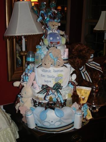Diaper Cake For A Boy Baby Shower Ideas Pinterest