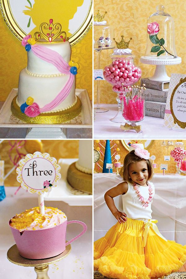 Princess belle inspired beauty and the beast party for Beauty and the beast table and chairs