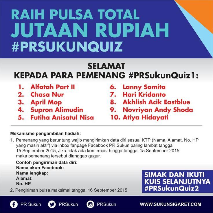 Pemenang #PRSukunQuiz1