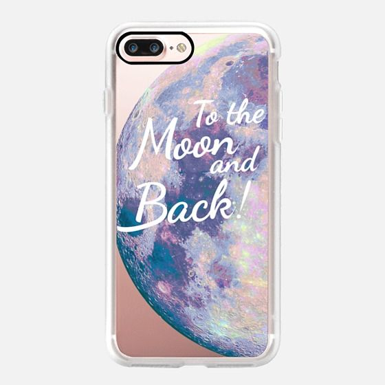 Casetify iPhone 7 Plus Case and other Moon iPhone Covers - To the moon and back! by Marta Olga Klara | Casetify