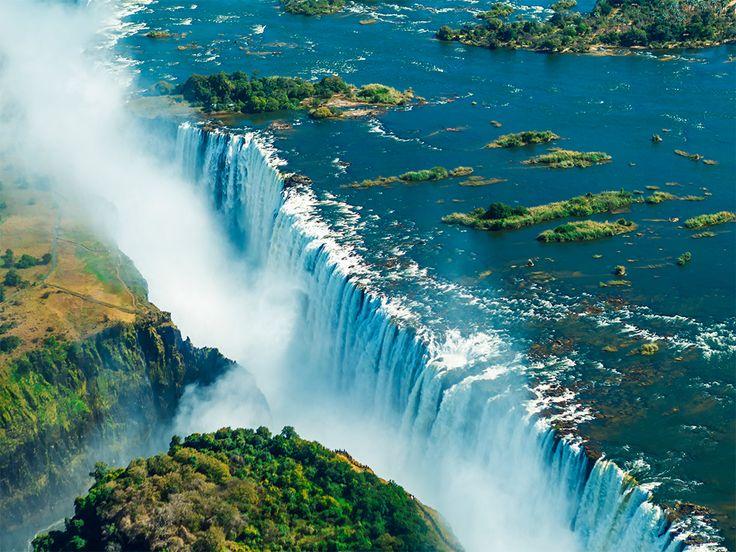 Algun día voy a visitar las #Cataras Victoria entre #Zimbabwe y #Zambia #TurismoAventura #Viajes