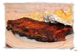 """Costillas a la barbacoa - Cocinando un abril encantado - """"Sweet Home Alabama"""""""