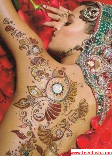 17 best images about body painting on pinterest girl for Henna tattoos locations