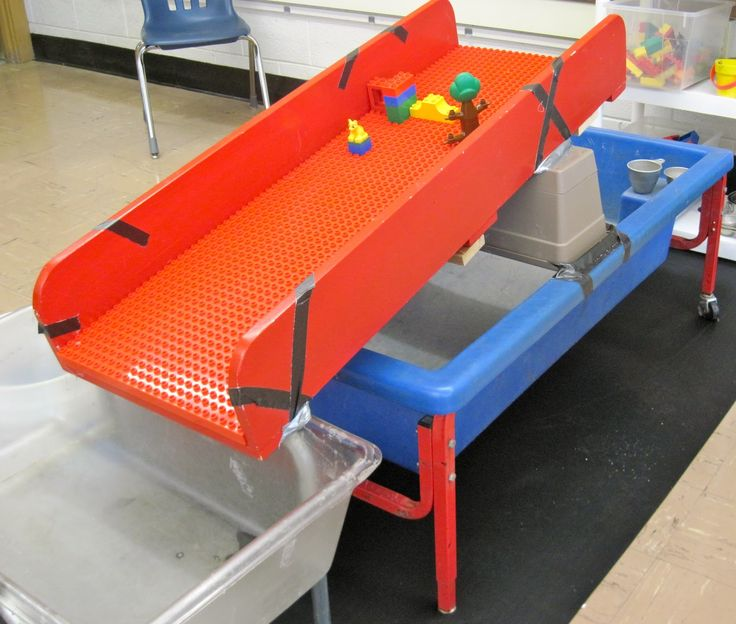 sand and water tables duplo board ramp