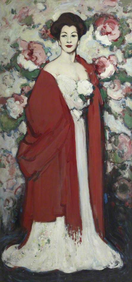 The Red Shawl, 1908, by J D Fergusson, Scottish (1874-1961)