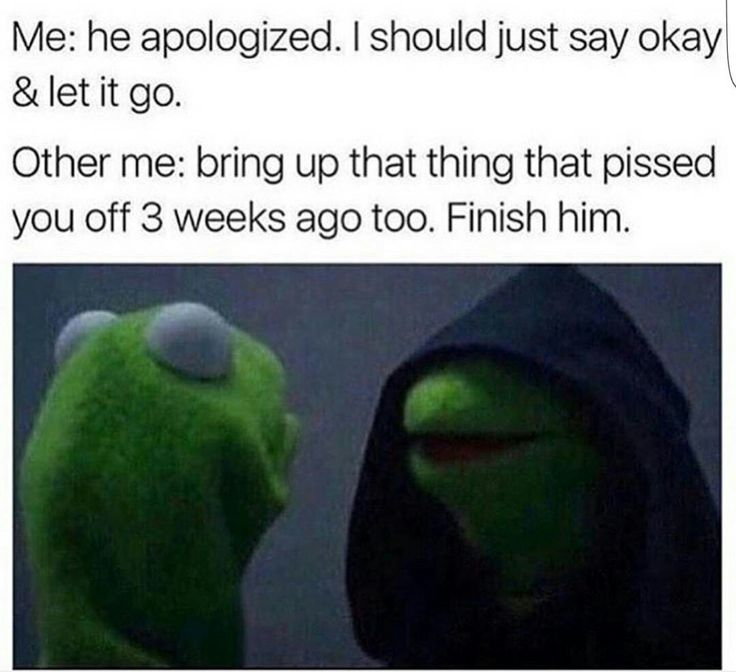 Kermit meme inner struggles haha