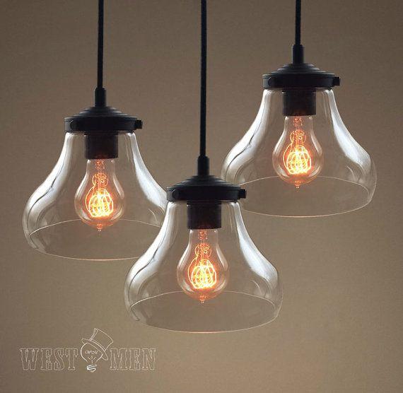 Creative island kitchen glass pendant lighting by AugustRushLights