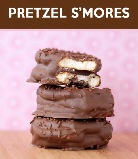 Pretzel S'mores Tutorial at Love From The Oven