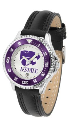Kansas State Wildcats Competitor Ladies Watch with Leather Band