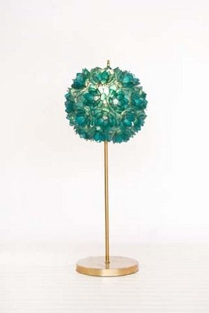 Turquoise Flower Table Lamp  Teenager bedroom Decor  www.sweetnsourkids.com