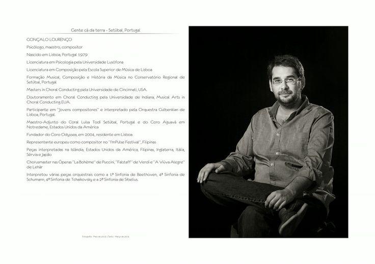 Blog de Antonio Correia: Gente cá da terra - Gonçalo Lourenço   Versão final