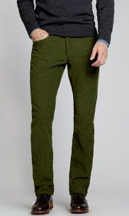 mens green corduroy pants - Pi Pants