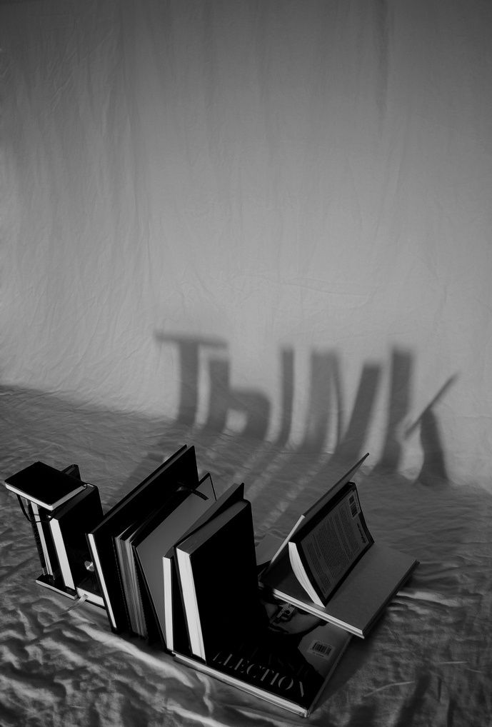 think - via book shadows - variation on finger shadows - cool !