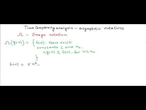 Time complexity analysis: asymptotic notations - big oh, theta ,omega - YouTube
