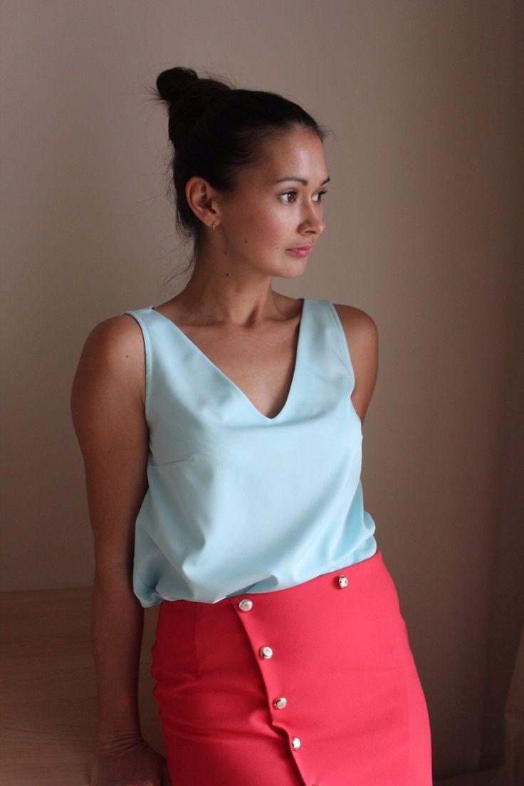 Базовый топ и юбка #blouse #skirt