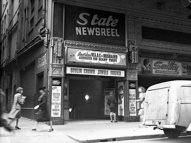 State Theatre and Newsreel Theatrette,Sydney in 1946.Photo from Dictionary of Sydney.A♥W