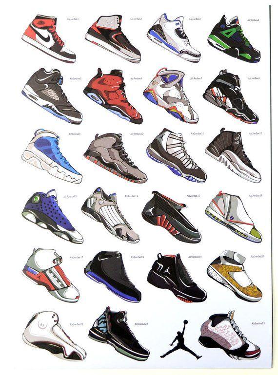 Basketball Shoes Jordon Stickers 24pcs Laptop Sticker Suitcase