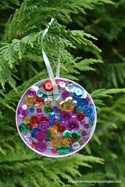 leather jackets for men online Plastic Lid Christmas Ornament  perfect for kids to make by FSPDT