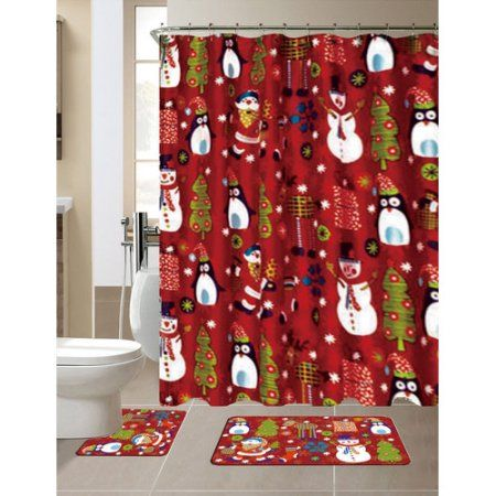 Shower Curtains christmas shower curtains walmart : 15 must-see Christmas Shower Curtains Pins | Grinch christmas ...