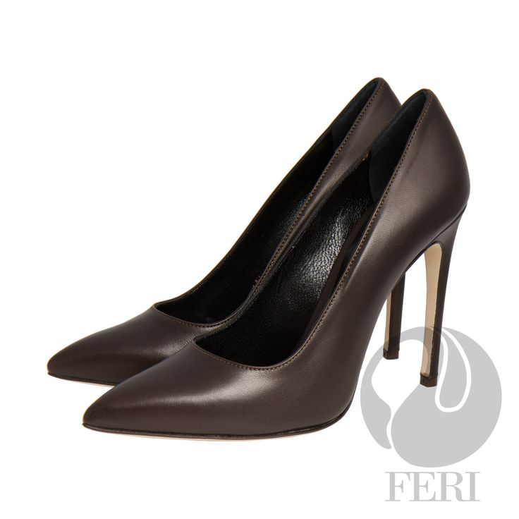 FERI - Elisabetta - Shoes - Dark Brown - Classic nappa brown leather stiletto heel - Made with high quality nappa leather upper and lining - Real leather sole - FERI logo embossed inside - Heel height: 4.53 inches  Invest with confidence in FERI Designer Lines.   Claim your Free $100 Gift check    http://www.gwtcorp.com/ghem or  email  fashionforghem.com for big discount