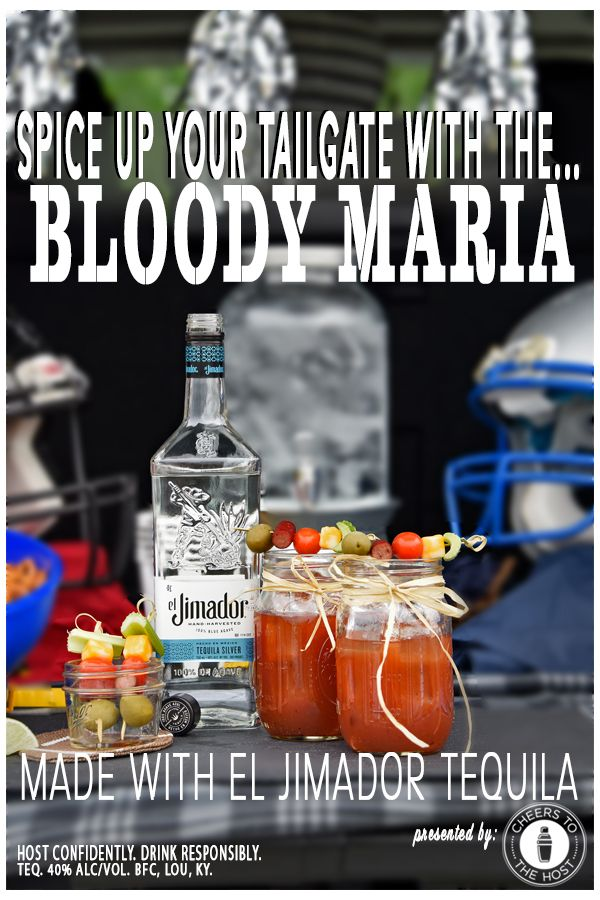 Bloody Mary's are a great tailgate cocktail but did you know you can swap out the vodka for tequila? It's called a Bloody Maria and we highly recommend it for game day! Click to find the recipe and more at CheerstotheHost.com.
