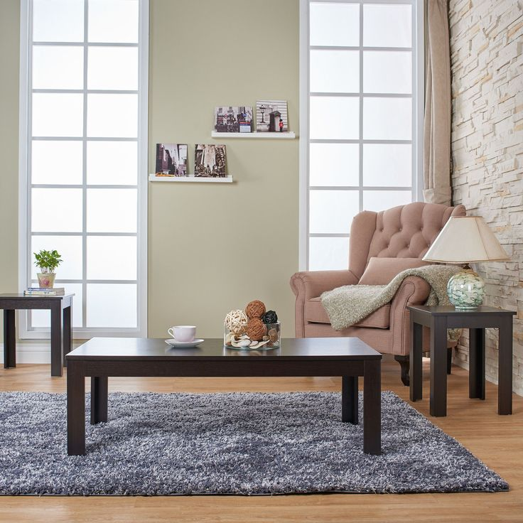 Define Your Hip, Minimalist Personal Home Decor Style With This Furniture  Of America Artemie Modern Three Piece Coffee And End Table Set.