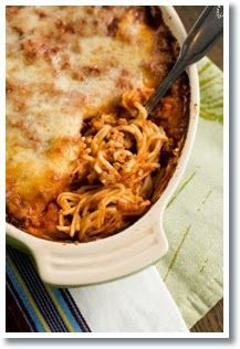 Little Food Junkie: Baked Spaghetti