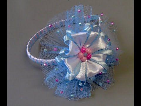 Passo a passo: Laço de fita de cetim decorado com pérolas/DIY/PAP - YouTube