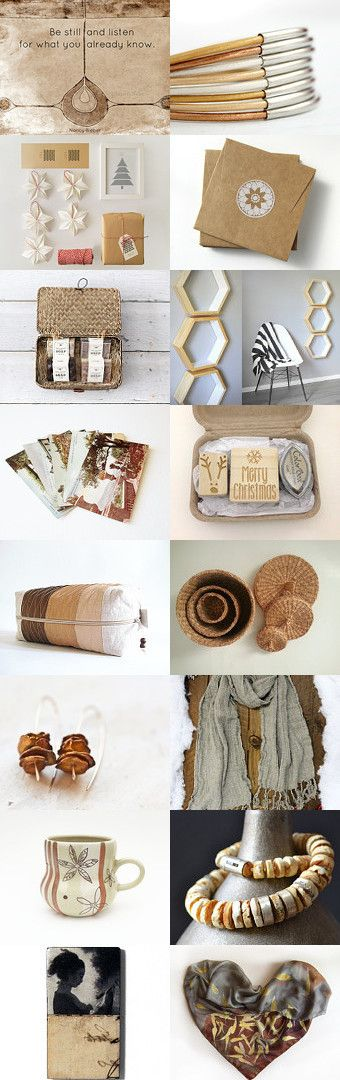 #NATURAL #treasury by Sigal Krumer on Etsy--Pinned with TreasuryPin.com #plantedfeet #art #christmas #gift ideas #neutral #decor