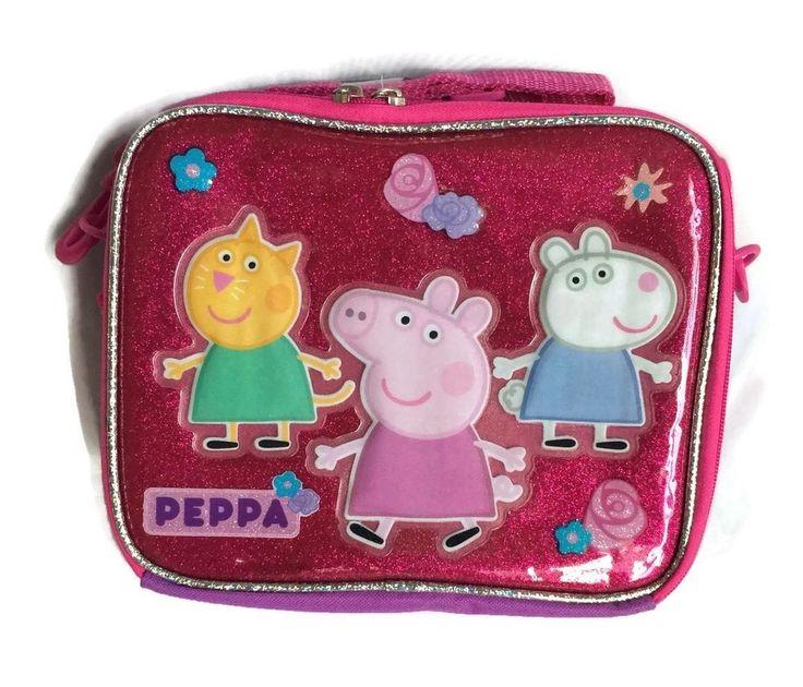 Peppa Pig Lunch Box Soft Tote Bag Girls Kids #PeppaPig #LunchBag